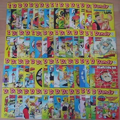 "Large Collection of 65 ""DANDY COMIC LIBRARY"". Early numbers 1 - 66 (Not #2)"