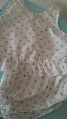 Vintage Baby Girls Heart Diaper Shirt & Bloomers -3-6 months