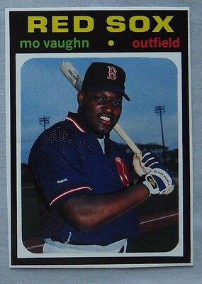 1991 Scd Baseball Card Pocket Price Guide Monthly Mo Vaughn Red Sox 1971 Topps