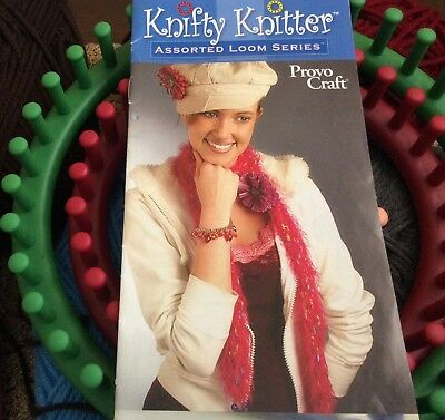 Knifty Knitter knitting set with free yarn, needle, embroidery hoop