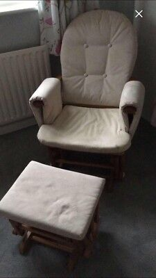 Reclining Rocking Chair And Stool