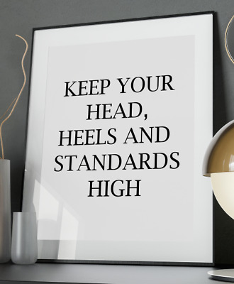 289069bd6afae HEAD HEELS INSPIRATIONAL Quote Poster Art Print A3 A4 A5 A6 Decor Gift Wall