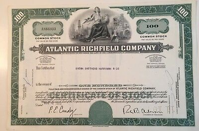 Atlantic Richfield Company...stock Certificate...1969...
