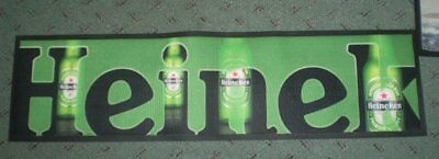 Rubber backed bar mat  - Heineken
