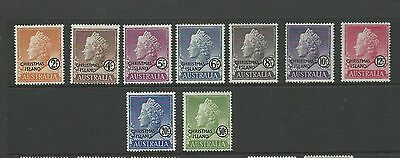 1958 Defins set of 9 to 50c only No $1  all Mint Hinged