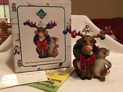 "Charming Tails ""TIME FOR SOME CHRIST MOOSE DECORATING""  DEAN GRIFF NIB CHRISTMAS"