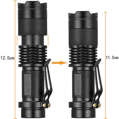 Ultrafire Tactical 50000LM T6 LED 18650 Flashlight Zoomable Focus Torch Lamp New