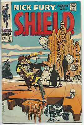 Nick Fury, Agent of SHIELD #7 Marvel Comics 1968 Classic Steranko Cover