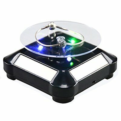 Solar Display Stand Turntable Battery Double Used Rotating Stand for Jewelry ...