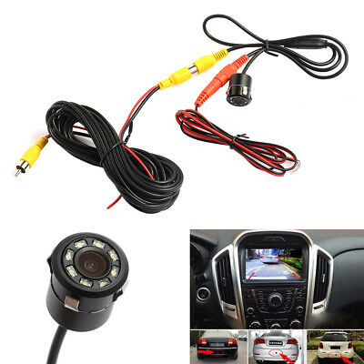 Car Reversing Camera kit Rear view IR Camera Parking Backup Night Vision 8 LED