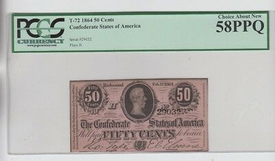 Confederate Currency Civil War era item PCGS Graded choice about new 58PPQ