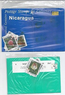 Nicaragua 1982 Woodland Flowers x 2 Packets Going Cheap
