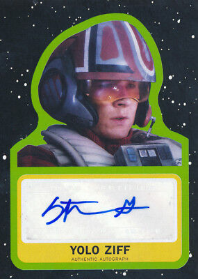 Topps Star Wars Journey Last Jedi Stefan Grube as Yolo Ziff Autograph