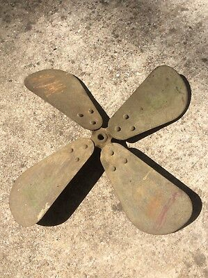 "Antique General Electric 12"" ELECTRIC FAN BLADE~Brass Blade~ Original~ OEM"