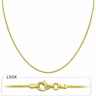 3.90 gram 14k Gold Solid Yellow Franco Women's Necklace Chain 16 inch (1.20 mm)