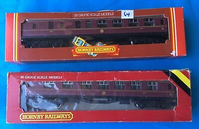 Hornby  OO gauge L.M.S. passenger Carriages  boxed x 2.