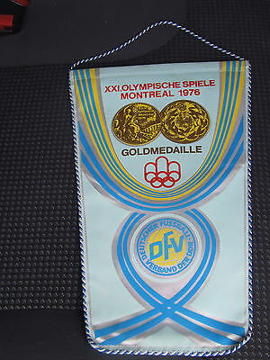 Wimpel XXI. Olympische Spiele Montreal 1976 GoldmedaIlle DFV DDR : Polen DDR....