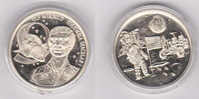 Ulf Merbold - Columbia Spacelab - superseltene Medaille 40 mm - 0257
