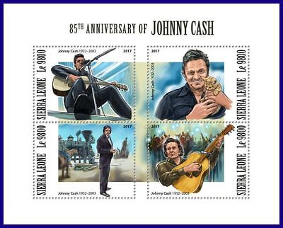 SIERRA LEONE 2017 MNH** Johnny Cash Country Music M/S #1117aB