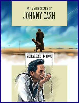 SIERRA LEONE 2017 MNH** Johnny Cash Country Music S/S #1117bB