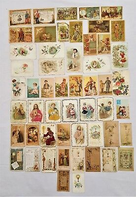 Lot 50 Chromos - Chocolat Poulain - Religieux - Divers - Ancien - Collection