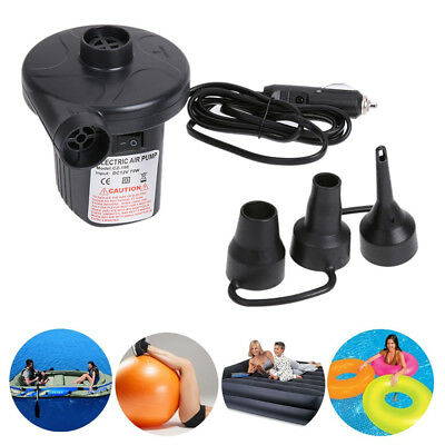 12V Electric Air Pump Inflator For Inflatables Airbeds Pools Sofa Toys Camping