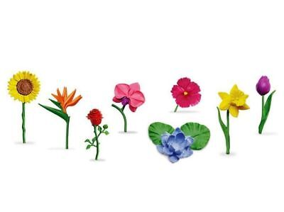 Miniature Fairy Garden Large Plastic Flowers - Set of 8 - Buy 3 Save $5