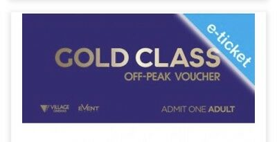 Gold Class Movie Etickets - 20 Min Email Dispatch | Rpp $41