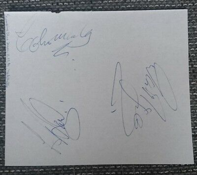 Swinging Blue Jeans original Autogramme, Band,autograph,In Person 1982,Rockband