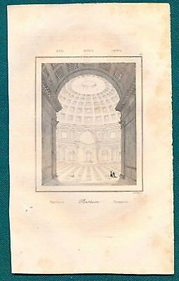 Incisione Del Pantheon  Di Roma - 1800