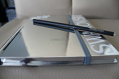 Authentic Swarovski Silver Notebook & Pencil with Crystal - New - So Pretty!!