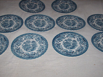 ten x myott tonquin large dinner plates 29 cm wideall ten are in very good used