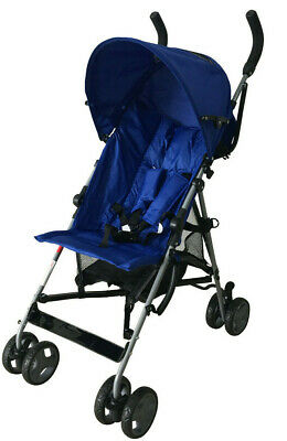 Baby Stroller Blue Light Weight Free Raincover