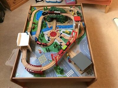 Early Learning Centre Big City Wooden Train Table Set & ELC Big City Train Table - £30.00 | PicClick UK