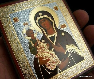 """Russian Orthodox Icon Three Handed Virgin Mary With Christ Child Image Icon 3"""""""