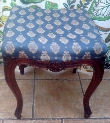 Antique Dressing Table Stool Walnut French Louis Xv1(?) Price Drop