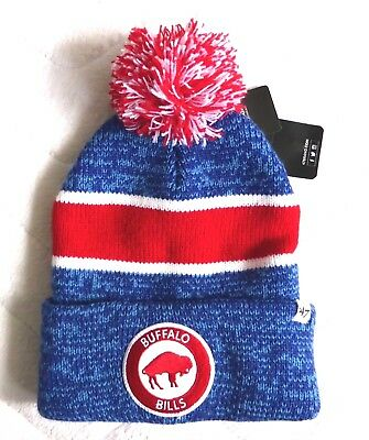 BUFFALO BILLS '47 BRAND American Football Cuff Bobble Beanie Toque Hat NFL