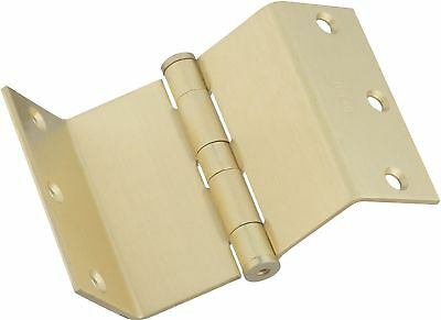"1 Stanley National Hardware DPBF248 3-1/2"" Swing Clear Hinge Satin Brass"