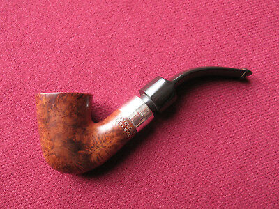 1989 PETERSON'S DELUXE system quality 5S sterling silver ring briar pipe P-Lip