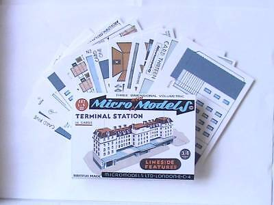 Micromodels TERMINAL STATION 14 cards SET L.S III Micro New Models card model