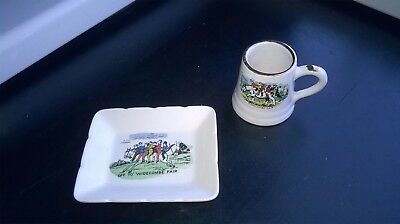Vintage Pin-Tray (Lancaster & Sandland Ltd.) + Mini Tankard/widecombe Fair/motif