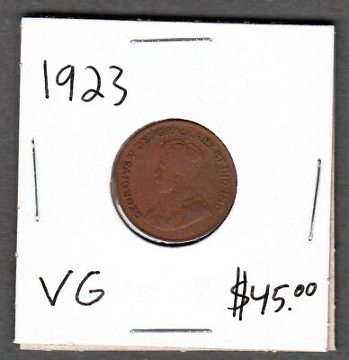 1923 Canada - 1 Cent - Very Good - Key Date Small Cent Coin - AA03