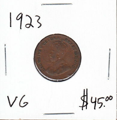 1923 Canada - 1 Cent - Very Good - Key Date Small Cent Coin - AA05