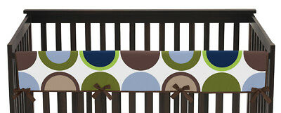 Jojo Modern Designer Dot Front Rail Guard Crib Cover Baby Teething Protector