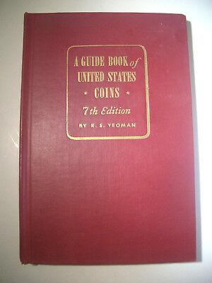 1954/55 RED BOOK R.S. YEOMAN * Guide Book of United States Coins 7th Edition NM-