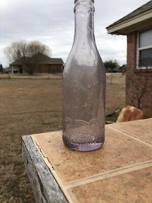 Pepsi Cola Script Straight Side Bottle Savannah Ga. Purple Rare