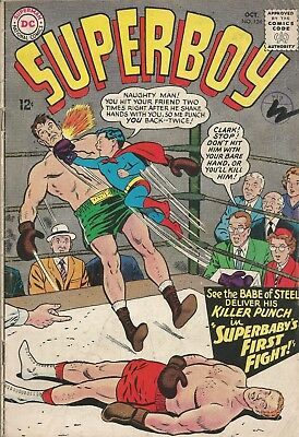 Free P & P - Superboy 124 (1965) - First Insect Queen!