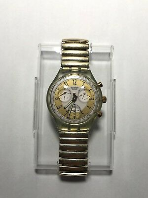 Swatch Chrono Golden Globe- 1992 - Scg100 Rare Vintage