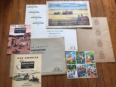 RARE Set of 1949 Vintage Coca Cola Agriculture Our America Ad Posters Lithograph