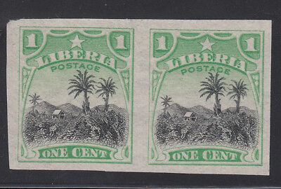 Liberia # O59  MNH Imperforate Proof Pair Missing OS Coffee (No gum as always)